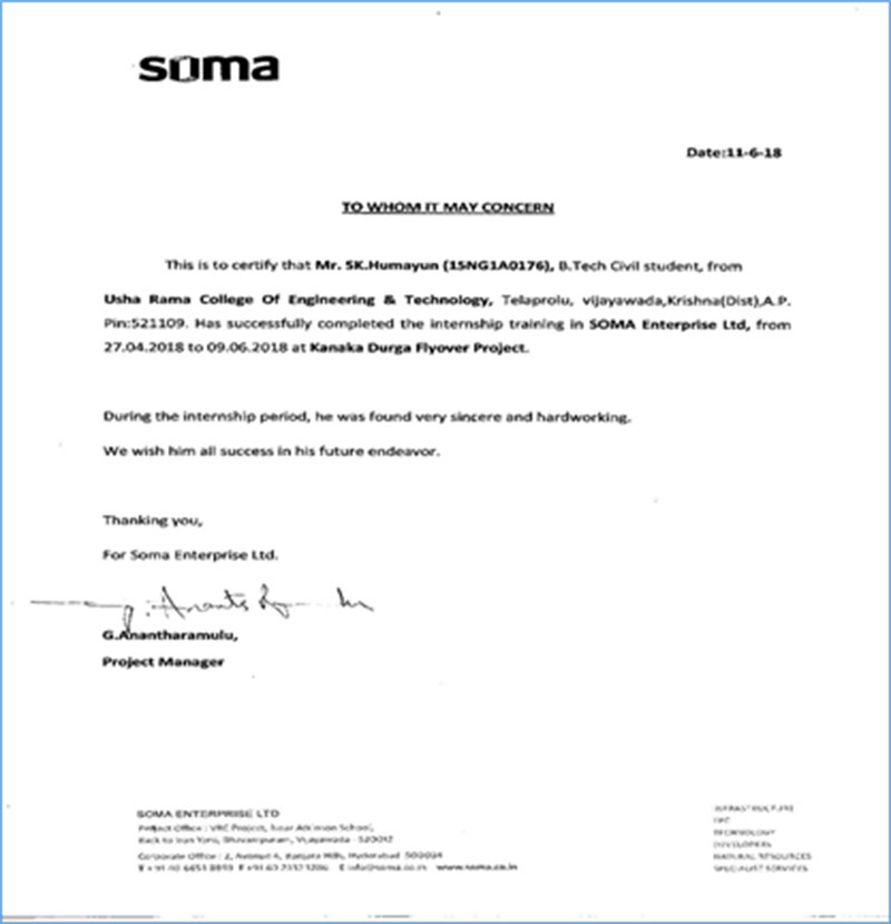SOMA internship report 2