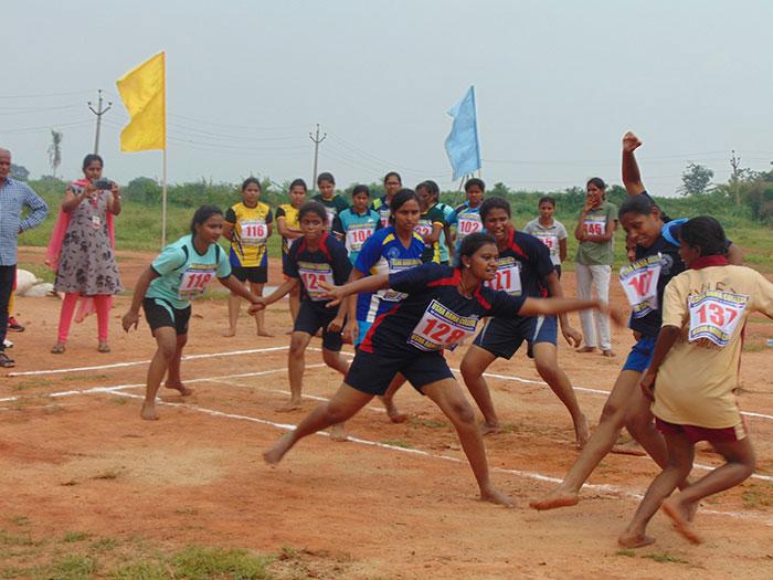 Jntuk Women Kabaddi Team Selection Trails 3