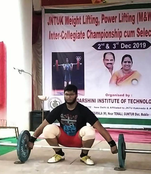 JntuK Inter Collegiate Weight Lifting 1